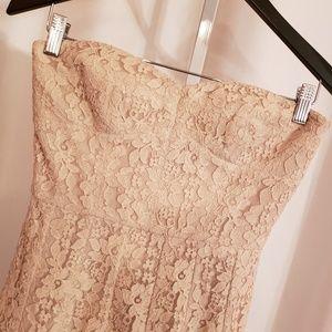 BCBGMaxAzria Dresses - BCBG Maxazria Cream lace mini dress sz 2